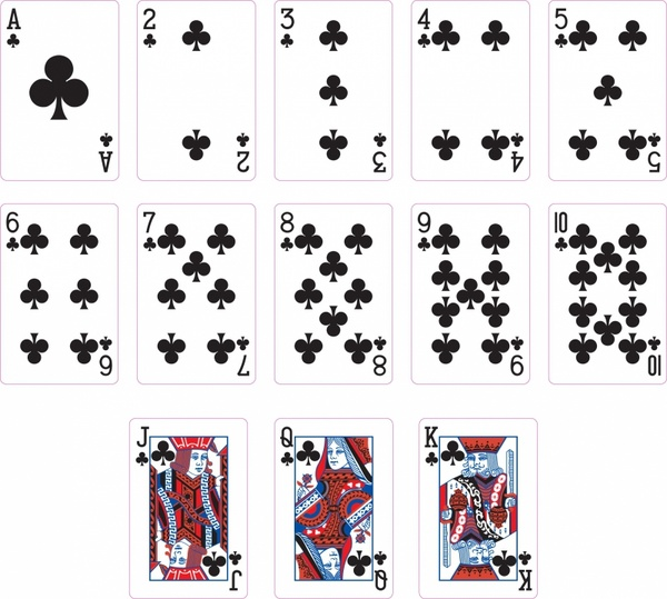 Club clipart playing card suit Club playing vector Playing Free