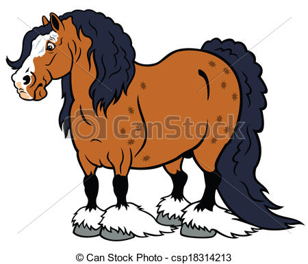 Clydesdale clipart 26 cartoon royalty  Clydesdale