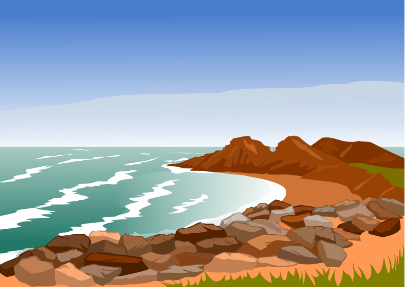 Coast clipart (81+) Clipart Free Group com