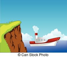 Coast clipart White steamship coast  coast