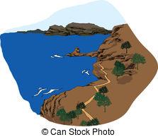 Coastline clipart Clip Art illustration  is
