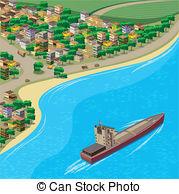 Coastline clipart Art City City – Coastline