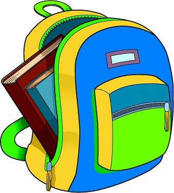 Bag clipart pack bag Backpack Clipart School clipart Rucksack