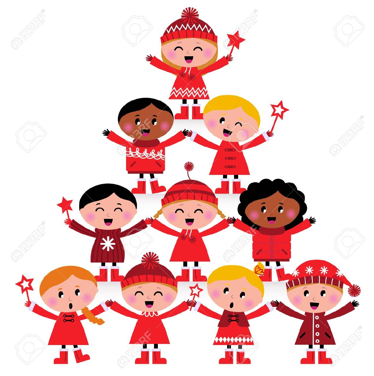 Merry Christmas clipart child In 1294x1300 Happy Christmas 160KB