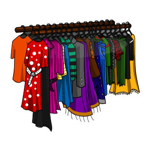 Coat clipart clothing rack Clipart Download Store Clothing Clip