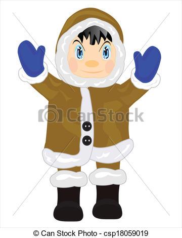 Coat clipart eskimo Clip eskimo Man Man on