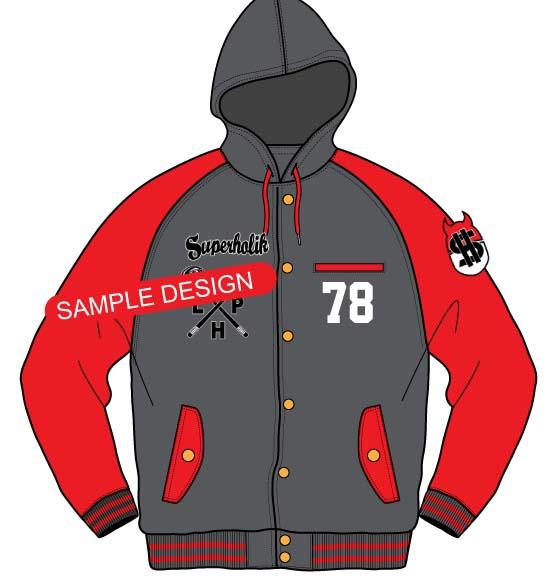 Coat clipart hood Hooded Jacket Varsity Varsity hellovector
