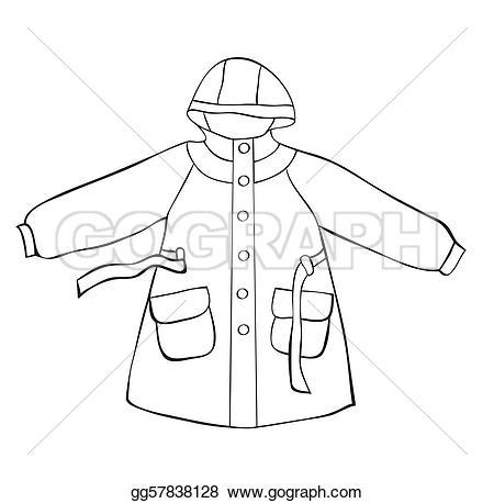 Coat clipart hood GoGraph Vector gg57838128 on Illustration