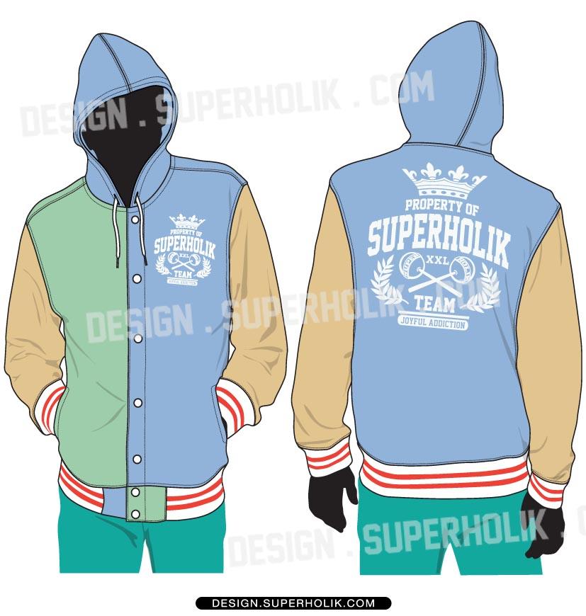 Coat clipart hood Hooded (Model Flat) set Jacket