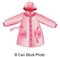 Coat clipart rainy Hood Rain white and on
