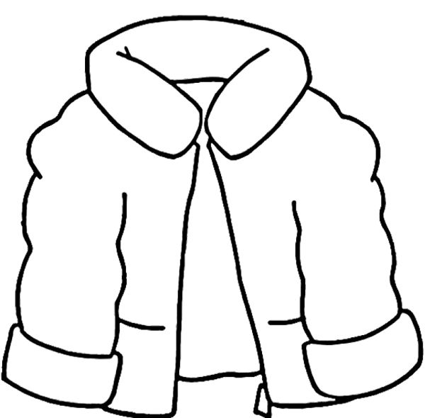 Coat clipart snow jacket Kids Winter on Pinterest Coloring