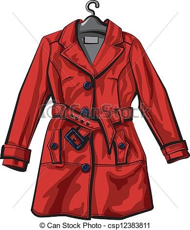Coat clipart vector  Illustration Coat vector Vector