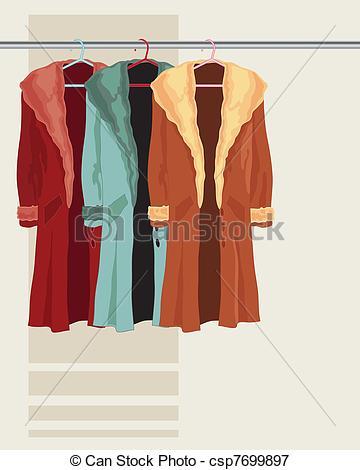 Coat clipart vector Room coat of Vectors collection