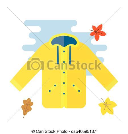 Coat clipart waterproof  vector raincoat raincoat yellow