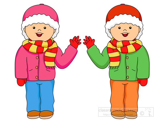 Winter clipart winter wear Clipart with Winter Clothes jacket