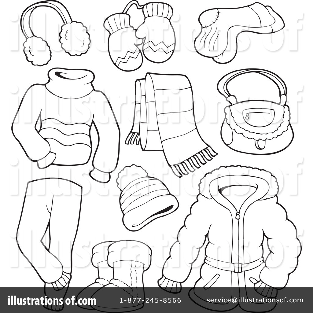 Winter clipart winter wear  The Winter Clothes clothes