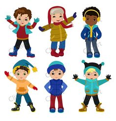 Winter clipart winter wear Boys pages) TeachersNotebook com Art