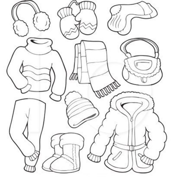 Winter clipart snowsuit Coloring free Other kids Coloring