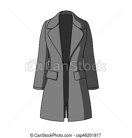Coat clipart womens clothing Restrained in monochrome coat female