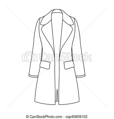 Coat clipart womens clothing Restrained icon in coat Blue