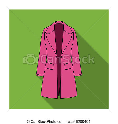 Coat clipart womens clothing Restrained in flat coat Blue