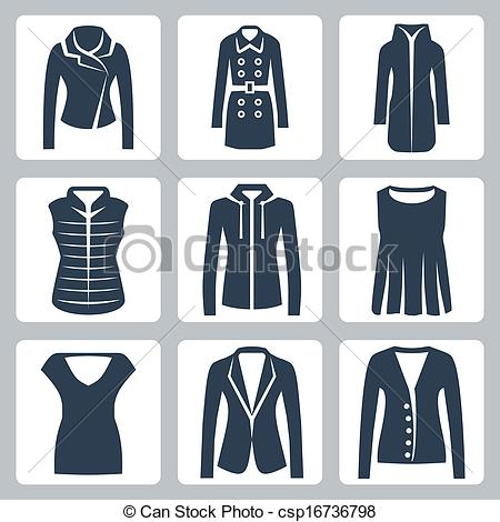 Coat clipart womens clothing Clothes EPS Vectors icons clothes