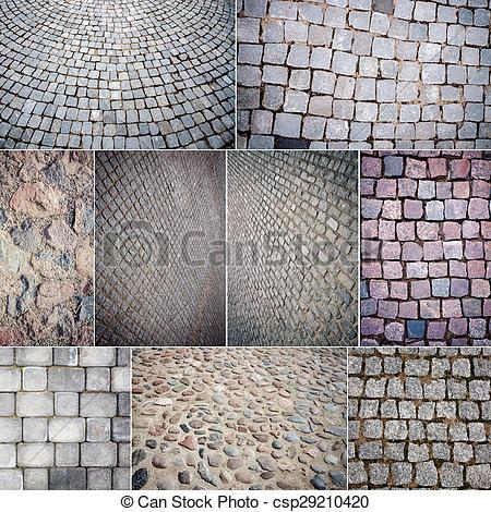 Cobblestone clipart big Stone paving of Stock paving
