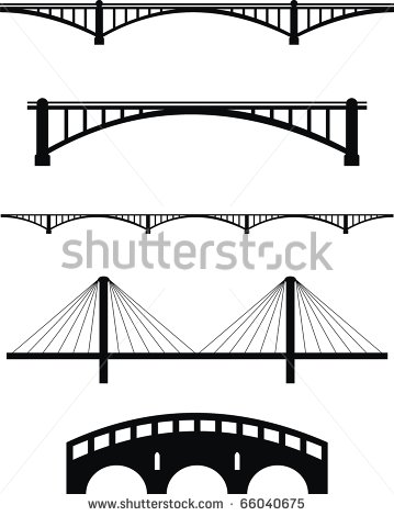 Broken Bridge clipart black and white A cobblestone  collection over
