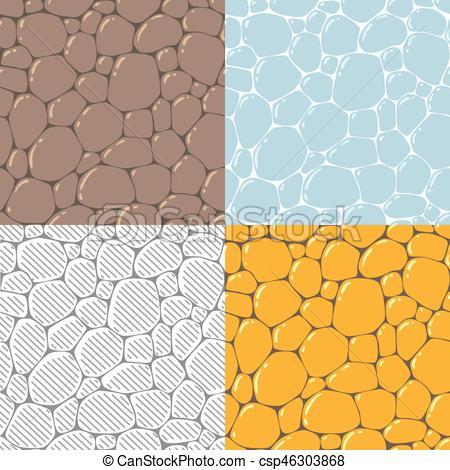 Cobblestone clipart illustration Stone Vector or csp46303868 of