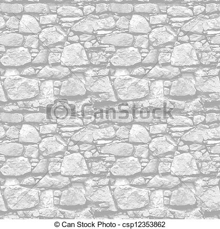 Cobblestone clipart illustration Realistic Vector seamless csp12353862 of