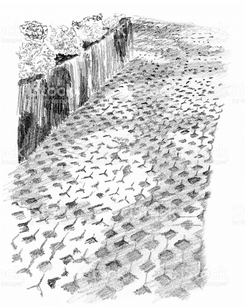 Cobblestone clipart pathway – Clipart Art Path Art