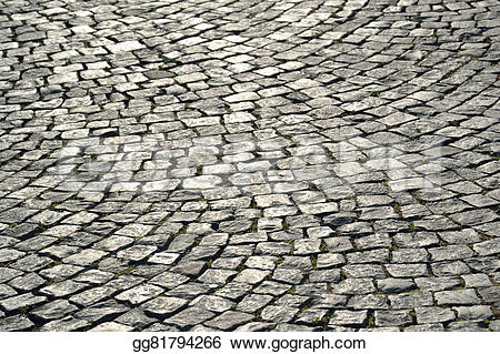 Cobblestone clipart pavement Clipart stone Paving small Stock