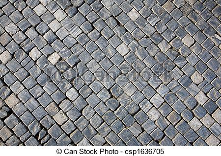 Cobblestone clipart pavement Of stone pavement csp1636705 pavement