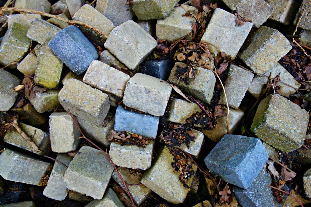 Cobblestone clipart rubble Free  rock wood black