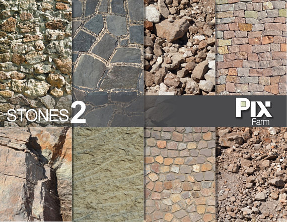 Cobblestone clipart wall texture Digital texture architecture wall paper
