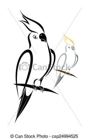 Cockatiel clipart Cockatiel 51 white Vector Illustrations