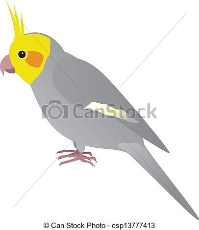 Brds clipart cockatiel Cockatiel Clip Vector csp13777413 Art