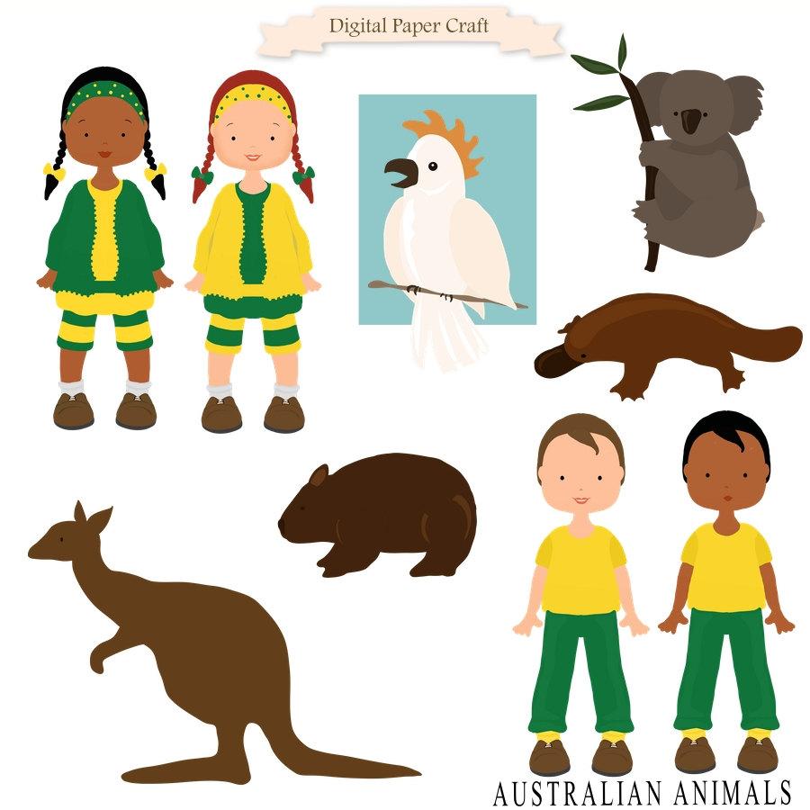 Culture clipart multi Kangaroo Children Clipart Koala Etsy