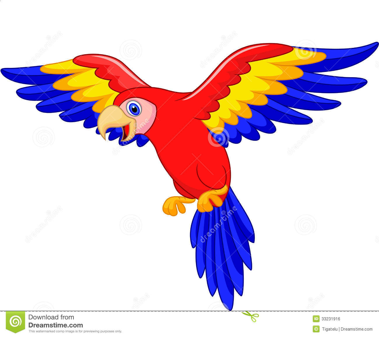 Scarlet Macaw clipart animated #4