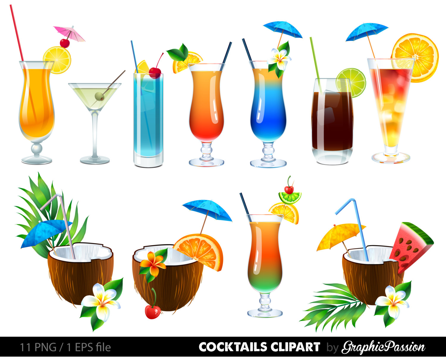 Zombie clipart non Digital Etsy Clipart SALE Cocktails