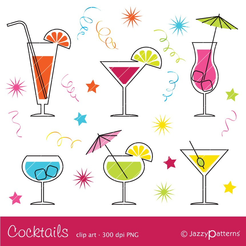 Alcohol clipart martini glass CA017 Cocktail Etsy clipart instant