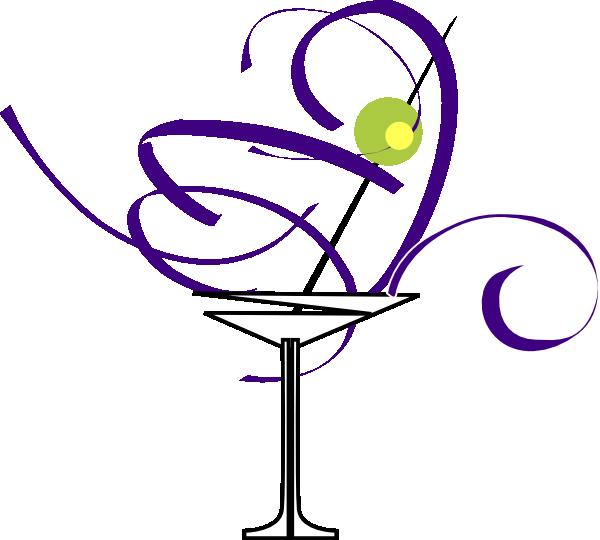 Purple clipart martini glass #1
