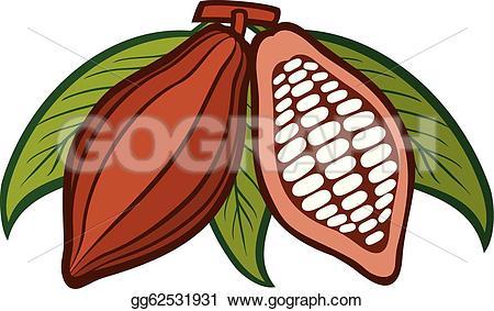 Bean clipart cocoa bean Stock Vector cocoa Vector beans