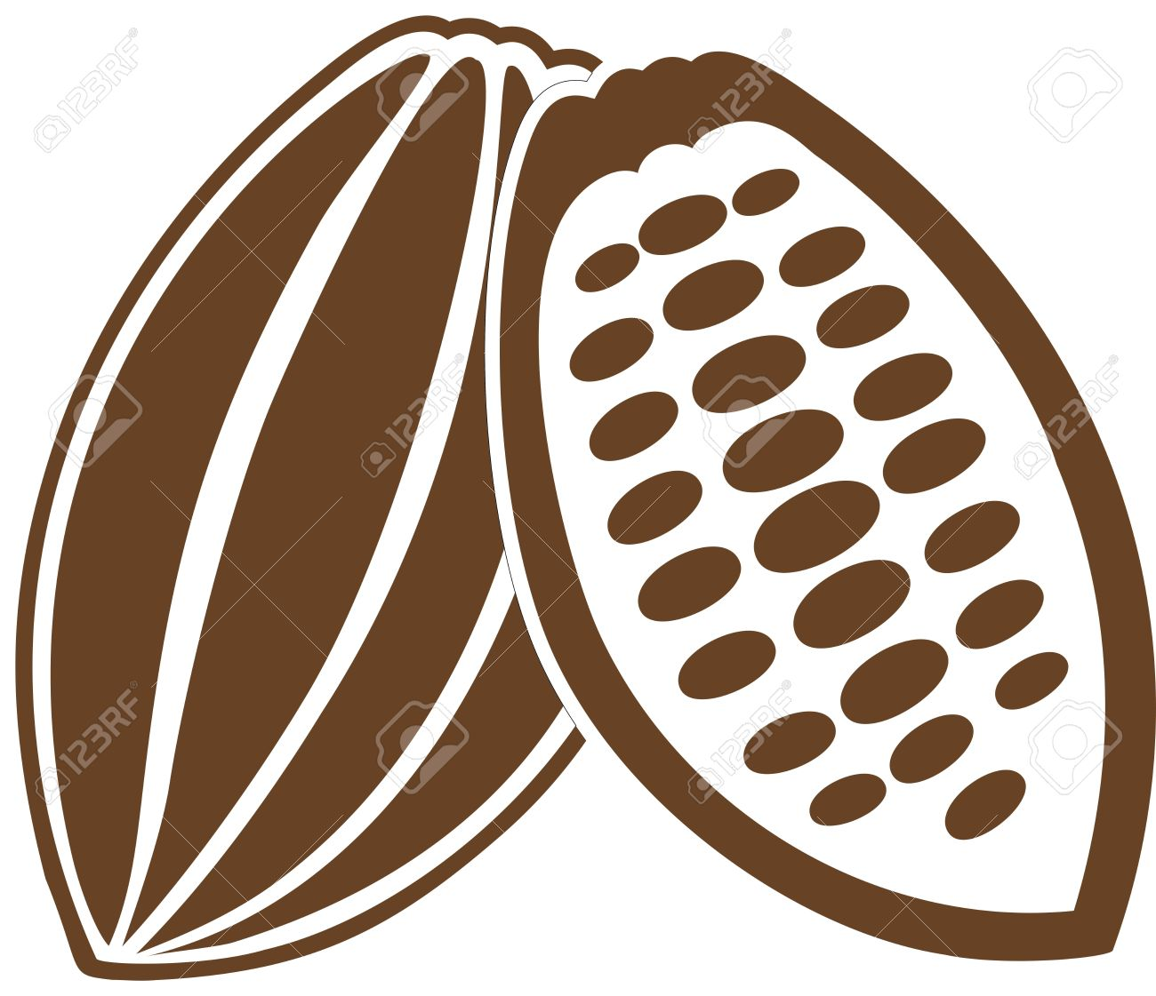 Beans clipart cocoa bean Green clipart Cocoa With collection