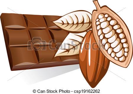 Cocoa Bean clipart With cocoa Clip Vector Vector