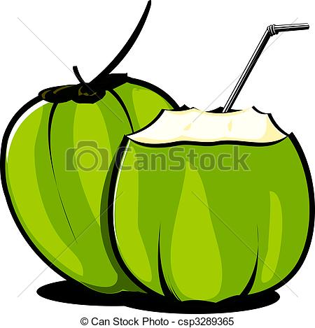 Coconut clipart Straw 124 tender  free