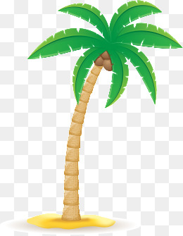 Palm Tree clipart coconut tree Tree images free psd coconut