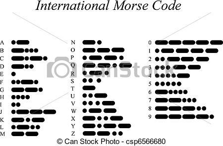 Code clipart morse code Csp6566680 International Morse International csp6566680