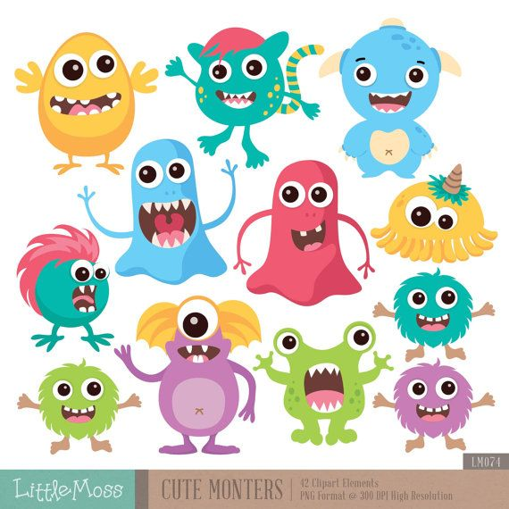 Codeyy clipart project result Cute Monsters 217 Monster* on