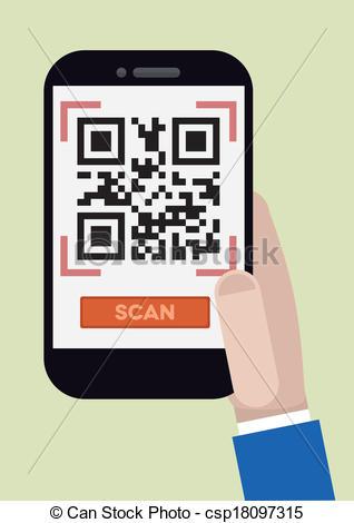 Code clipart qr code Art code qr Clip Vector